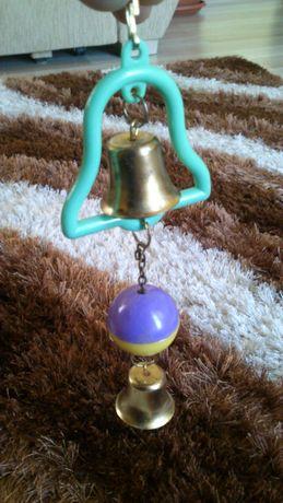 Dzwoneczki dla papugi zabawka