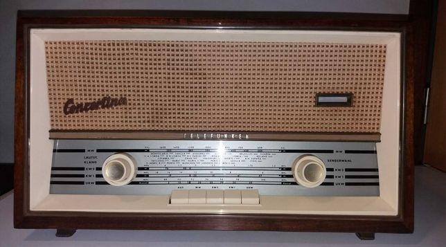 Rádio antigo Telefunken Concertina