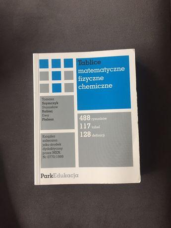 Tablice matematyczne, chemiczne,fizyczne.