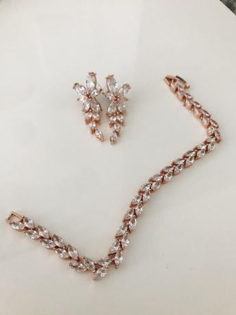 Biżuteria ślubna w kolorZe różowego złota