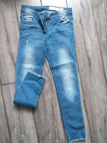 Spodnie jensowe dziewczęce 140cm