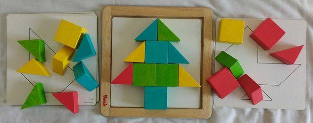 Mosaico de madeira da Voilà, para crianças a partir dos 2 anos