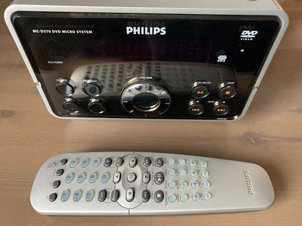 Miniwieża Philips DVD/CD - do kina domowego i muzyki, 2x50W - stan bdb