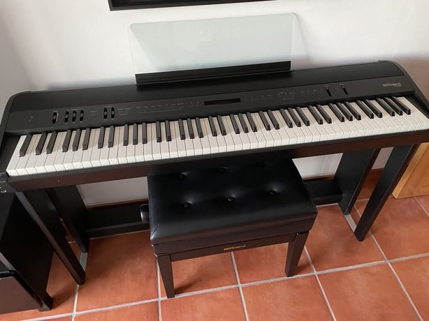 Piano Digital Roland FP-90 (Garantia) + Estrutura + Pedal