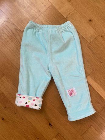 Флисовые штаны на девочку, 6-9 месяцев, 68-74 р