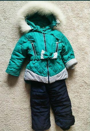 Зимний комбинезон ( пальто) 2-4 г( мех натуральный)
