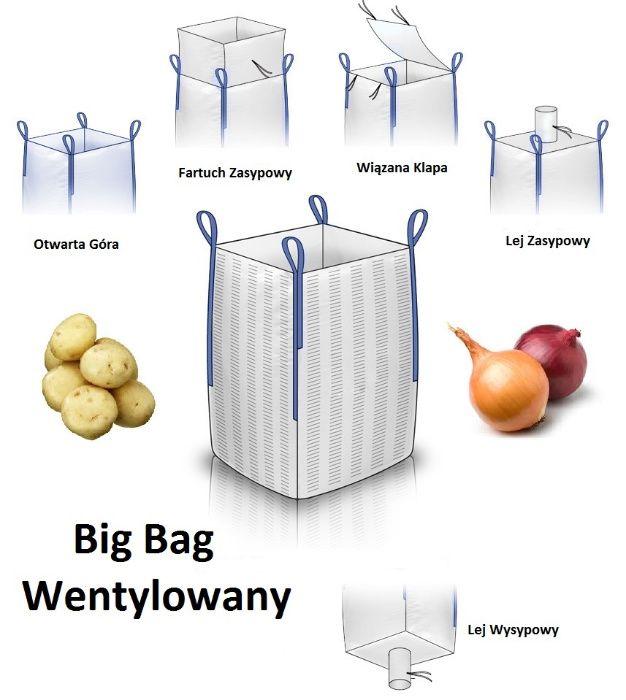 Worek big bag do Cebuli Marchwii Ziemniaka SWL 1000kg Raszlowy Kalisz - image 1
