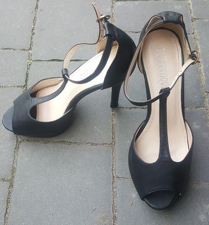 Buty na obcasie szpilki 38 czarne
