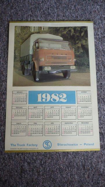 Oryginalny kolekcjonerski kalendarz FSC Star Starachowice z 1982 r.