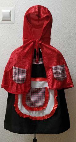 Strój Czerwony Kapturek z koszyczkiem rozm. 4-5 lat, 104-110 cm