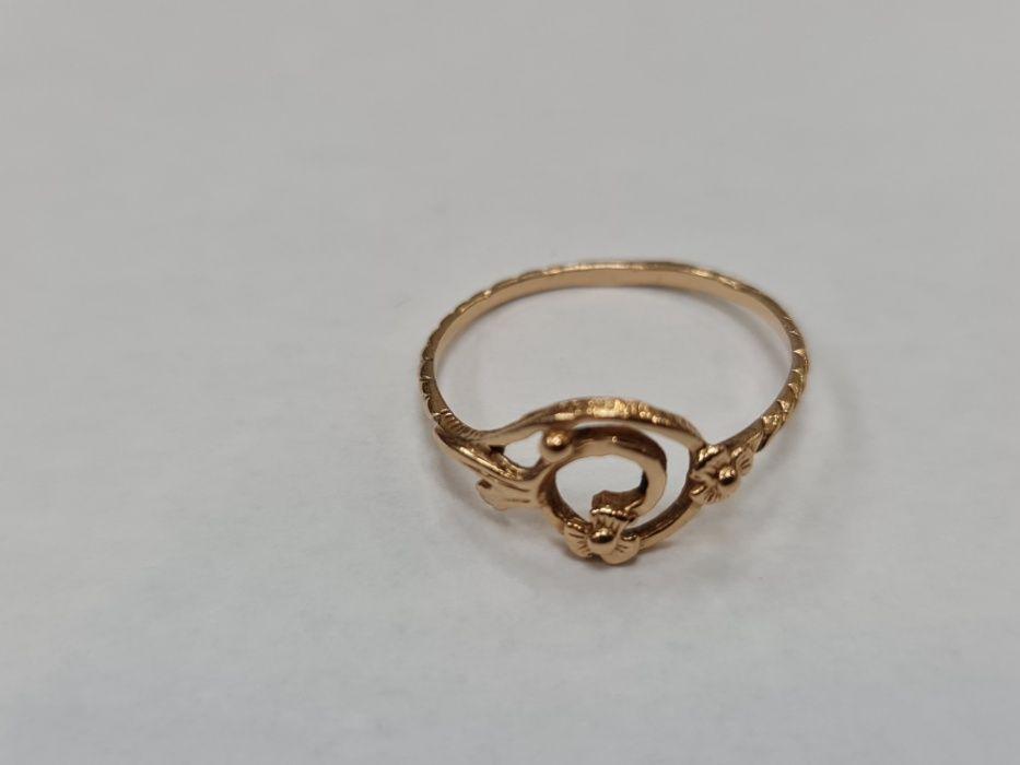 Retro! Klasyczny złoty pierścionek damski/ 585/ 1.48 gram/ R17/ Gdynia Gdynia - image 1