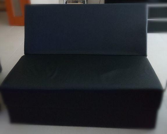 sofá Cambalhota casal cor preta