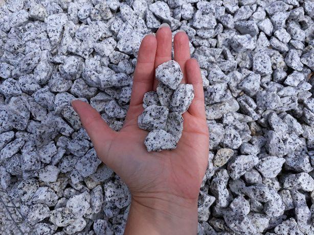 GRYS DO OGRODU Granitowy Dalmatyńczyk 16-32 mm KURIER 1 TONA