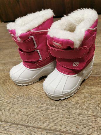 Śniegowce dla dziewczynki ocieplane r. 21,5
