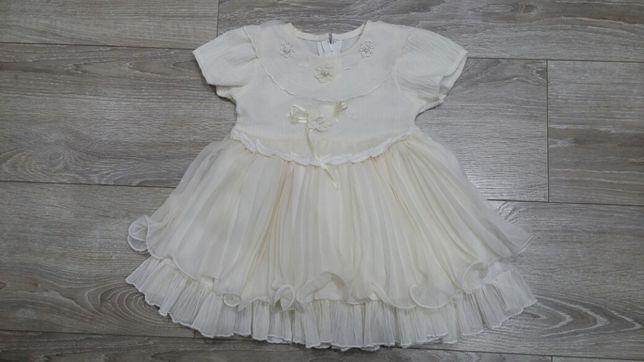 Sukienka święta tiul chrzest roczek 86 92 bardzo dobry sesja