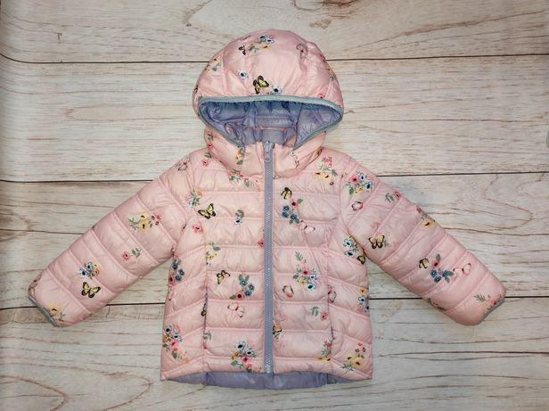 Куртка h&m для девочки 2-4 года двухсторонняя