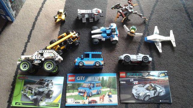 Klocki lego zestaw Porsche, City, Star Wars, Nijago całość