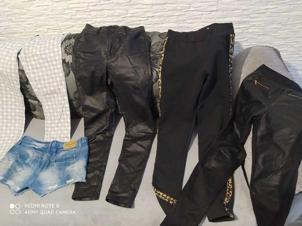 Spodnie jeans,skóra 38