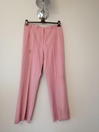 eleganckie biurowe rozowe materialowe spodnie do garnituru 44 XXXL 46