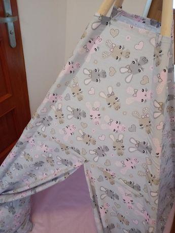 Nowy namiot Tipi szyty własnoręcznie. Polecam