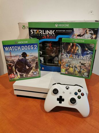 Konsola Microsoft XBOX ONE S 500GB Watch Dogs 2 STARLINK + Pad /Poznań