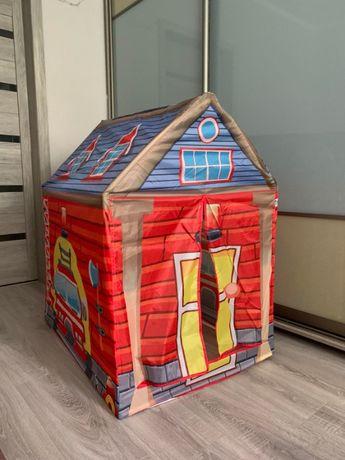 Качественная и яркая палатка домик Пожарная станция