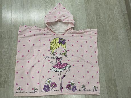 Пончо пляжное пончо полотенце для девочек disney пояжное полотенце
