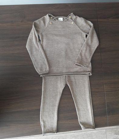 Komplet spodnie i sweter z jedwabiu H&M rozm 80