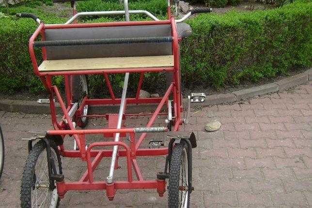 Rowery rodzinne dla 4-ch osób.