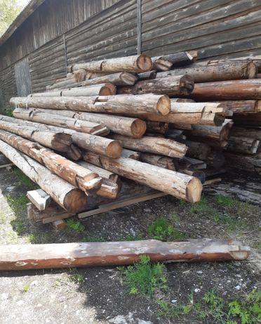 Bale drewniane z rozbiórki poniemieckiej stodoły