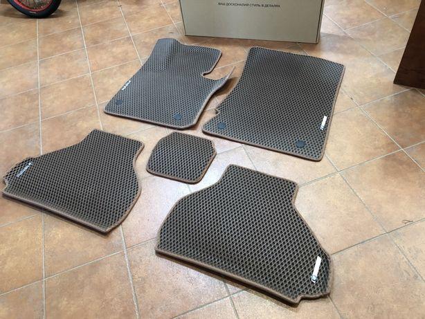 Коврики BMW X5 E70 2008-2013,салон,3д-борты,коричневого цвета+4 шильда