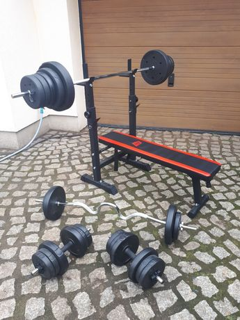Siłownia domowa 77.5kg zestaw hop-sport pretorians marbo