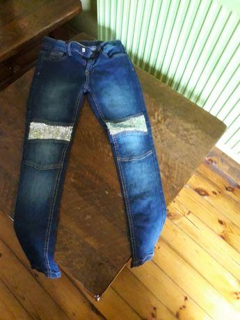 Spodnie jeans dla dziewczynki roz. 146/ 10-11 lat