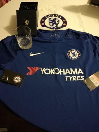 Zestaw koszulka Nike L / worek/ szklanka Chelsea