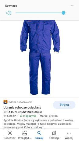 Ubranie robocze zimowe