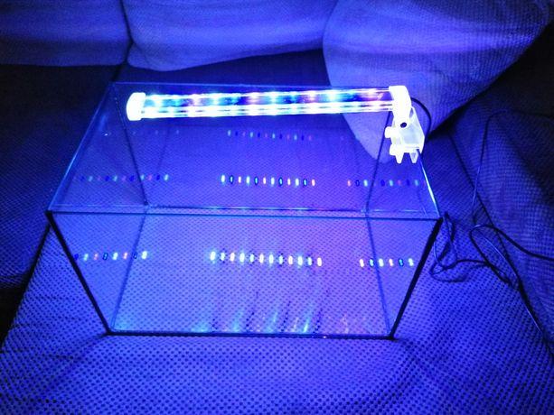 Akwarium 40x25x25 i lampki led 12w