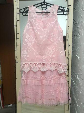 Платье летнее нарядное праздничное(146-152)