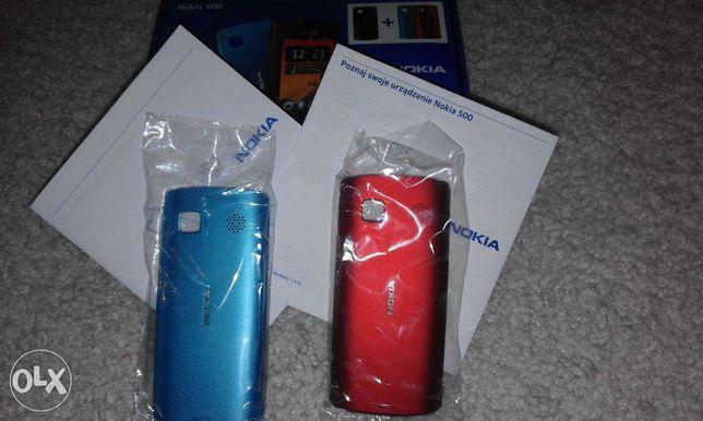 Nowe oryginalne obudowy NOKIA 500 czerwona i niebieska