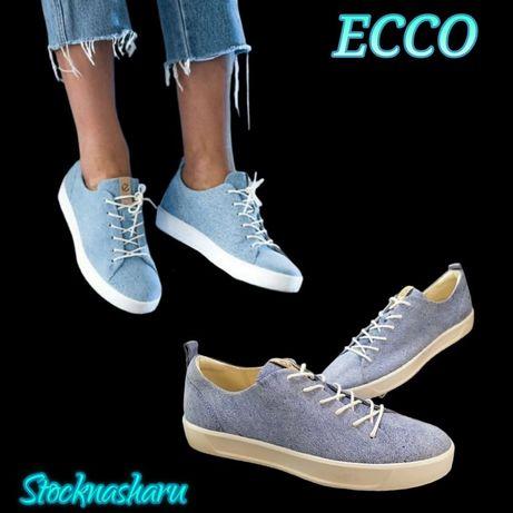 кеди женские кожаные ECCO soft 8 р. 38,39