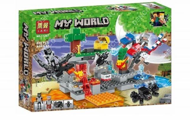 Конструктор Lari 11267 Нападение драконов Аналог LEGO Minecraft