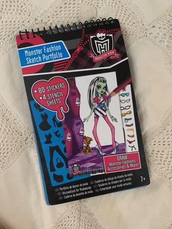 Монстер хай / Monster high скетч бук,набір для творчості «Мода»fashion