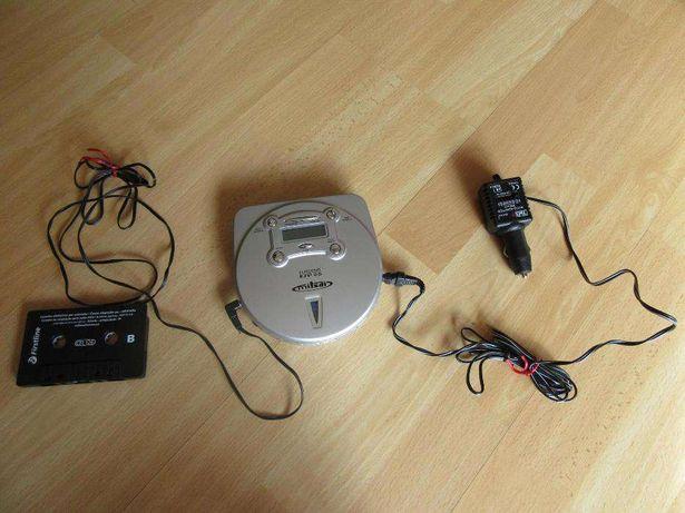 Leitor de CDs portátil com adaptador para leitor de cassetes do carro