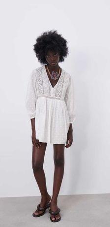 Платье Zara, размер M, 100% хлопок