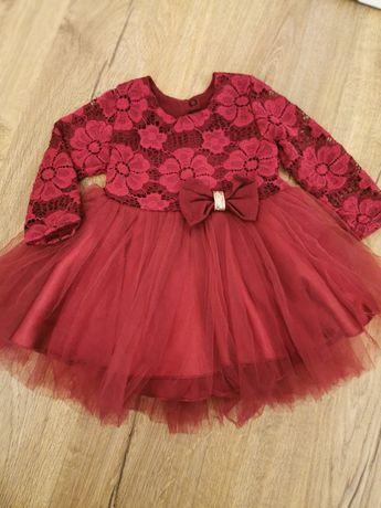 Sukienka tiulową koronkowa rozmiar 80