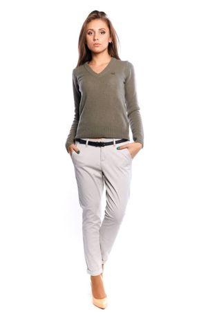 Новые легкие хлопковые брюки чиносы,молочного цвета.46 р