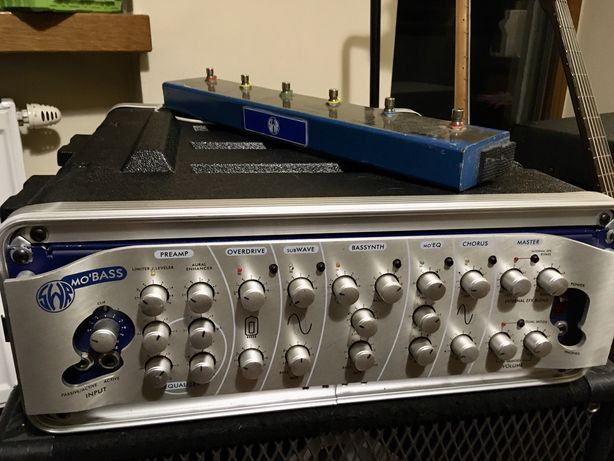 SWR Mo Bass + DIY Mo Control + rack 3U wzmacniacz do gitary basowej
