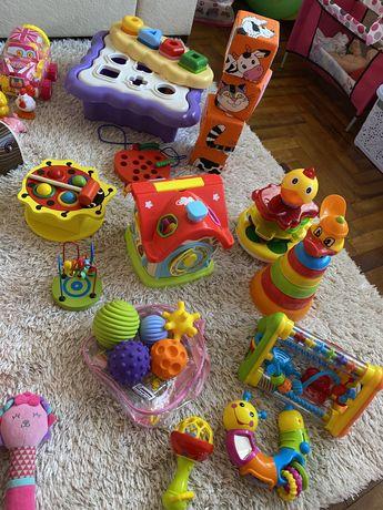 Пакет игрушек 0-12 М (сортер, мячики, кубики, птичка)