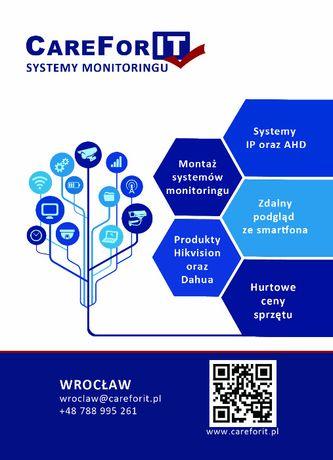 Kamery, Monitoring: Hikvision, Dahua | Sprzedaż i montaż | Oława