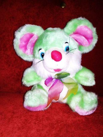 Мягкая игрушка мышь с погремушкой, высота 25см, состояние отличное.
