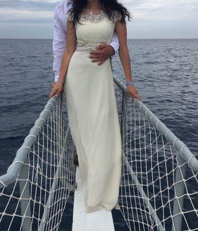 Свадебное платье на роспись на выпускной